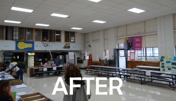 after photo of cafeteria