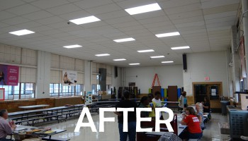 after photo of second cafeteria