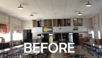 before picture of cafeteria